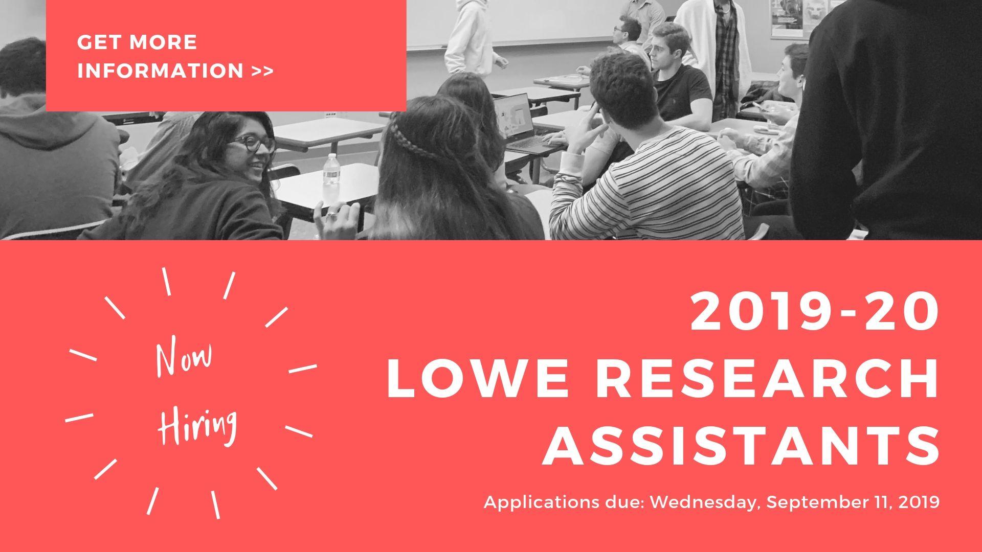 2018-19 Lowe Institute