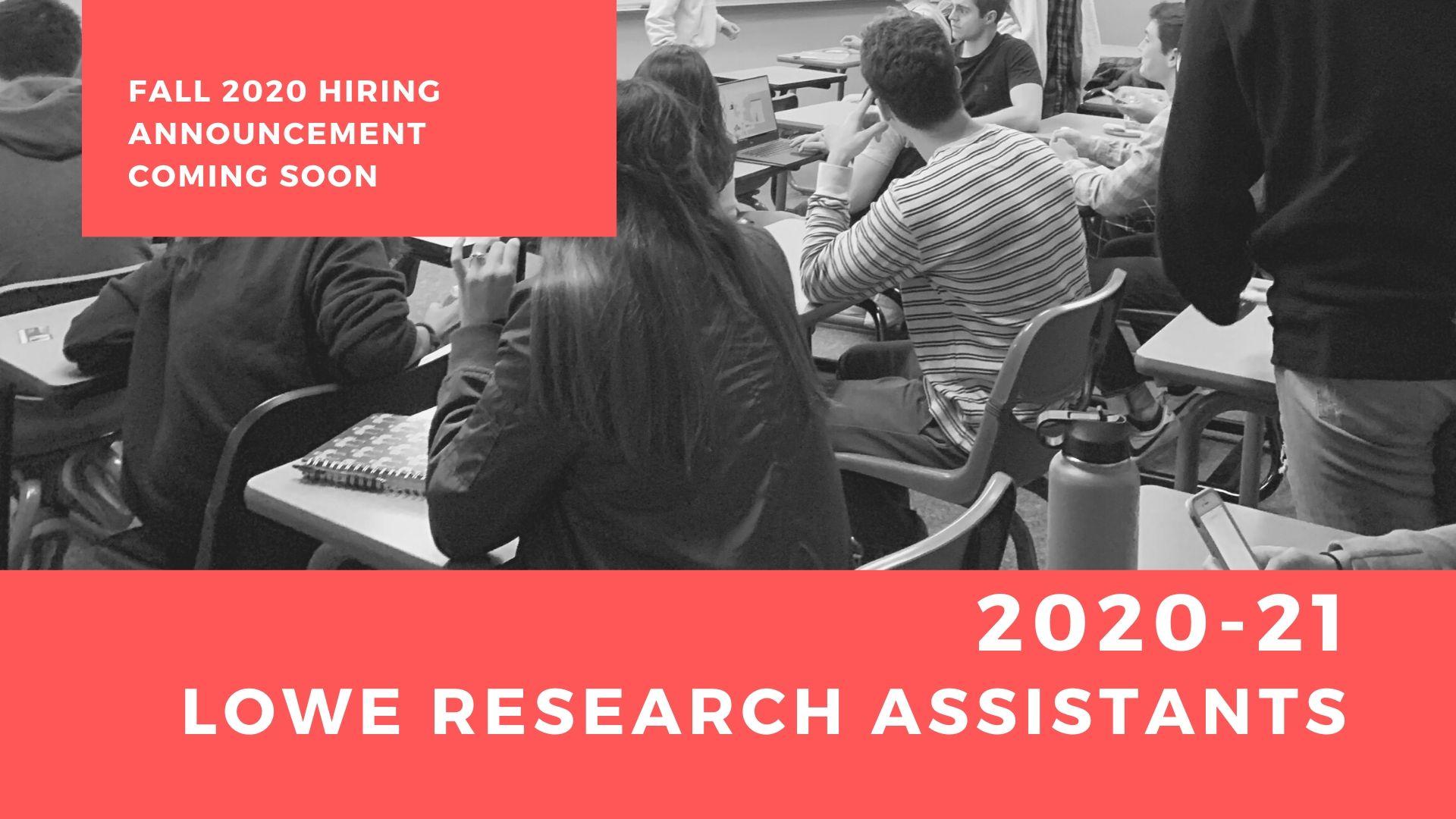 2020-21 Lowe Institute